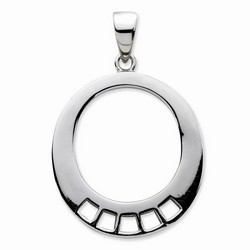 Oval Shaped Charm Carrier Pendant By Amore La Vita
